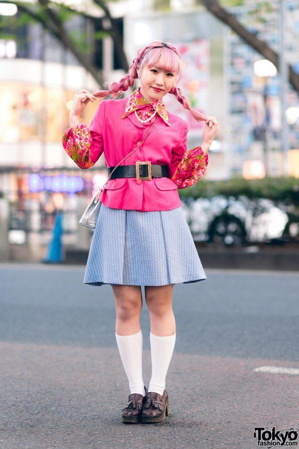 Kawaii Harajuku Girl Squad Street Styles w/ Pink Hair, Sheer Pastel Fashion, San To Nibun No Ichi, Kinji Resale & Cabbage Patch Doll 14