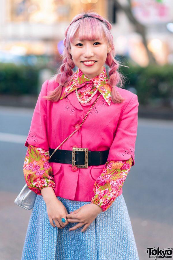 Kawaii Harajuku Girl Squad Street Styles w/ Pink Hair, Sheer Pastel Fashion, San To Nibun No Ichi, Kinji Resale & Cabbage Patch Doll 15