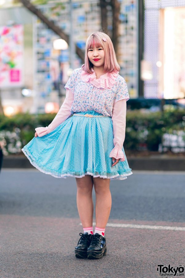 Kawaii Harajuku Girl Squad Street Styles w/ Pink Hair, Sheer Pastel Fashion, San To Nibun No Ichi, Kinji Resale & Cabbage Patch Doll 18