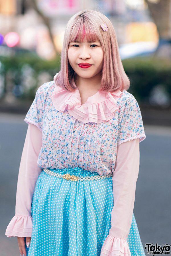 Kawaii Harajuku Girl Squad Street Styles w/ Pink Hair, Sheer Pastel Fashion, San To Nibun No Ichi, Kinji Resale & Cabbage Patch Doll 19