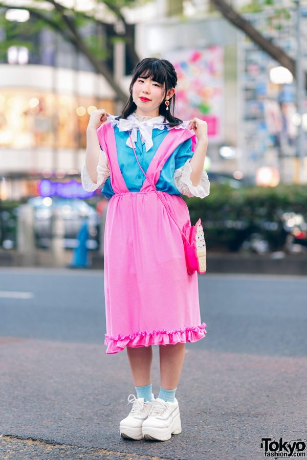 Kawaii Harajuku Girl Squad Street Styles w/ Pink Hair, Sheer Pastel Fashion, San To Nibun No Ichi, Kinji Resale & Cabbage Patch Doll 10