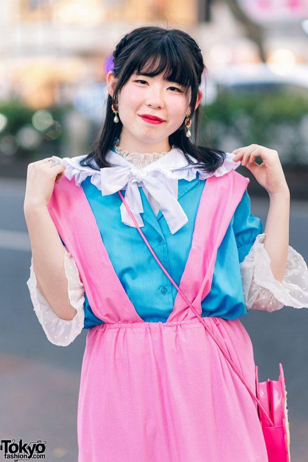 Kawaii Harajuku Girl Squad Street Styles w/ Pink Hair, Sheer Pastel Fashion, San To Nibun No Ichi, Kinji Resale & Cabbage Patch Doll 11