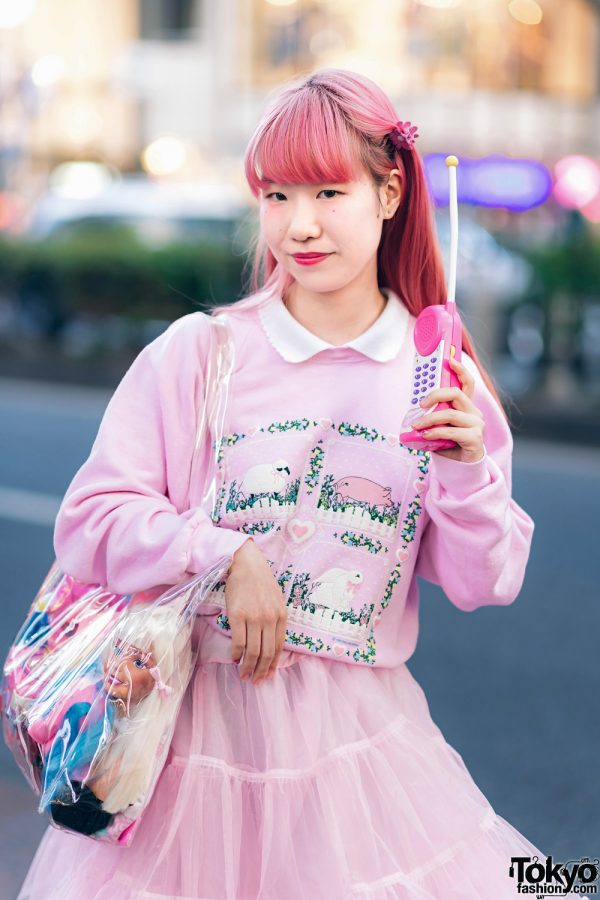 Kawaii Harajuku Girl Squad Street Styles w/ Pink Hair, Sheer Pastel Fashion, San To Nibun No Ichi, Kinji Resale & Cabbage Patch Doll 27
