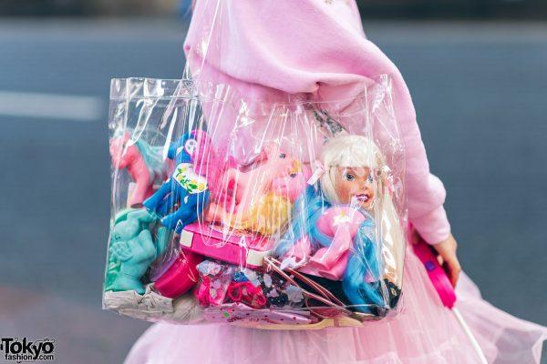 Kawaii Harajuku Girl Squad Street Styles w/ Pink Hair, Sheer Pastel Fashion, San To Nibun No Ichi, Kinji Resale & Cabbage Patch Doll 30