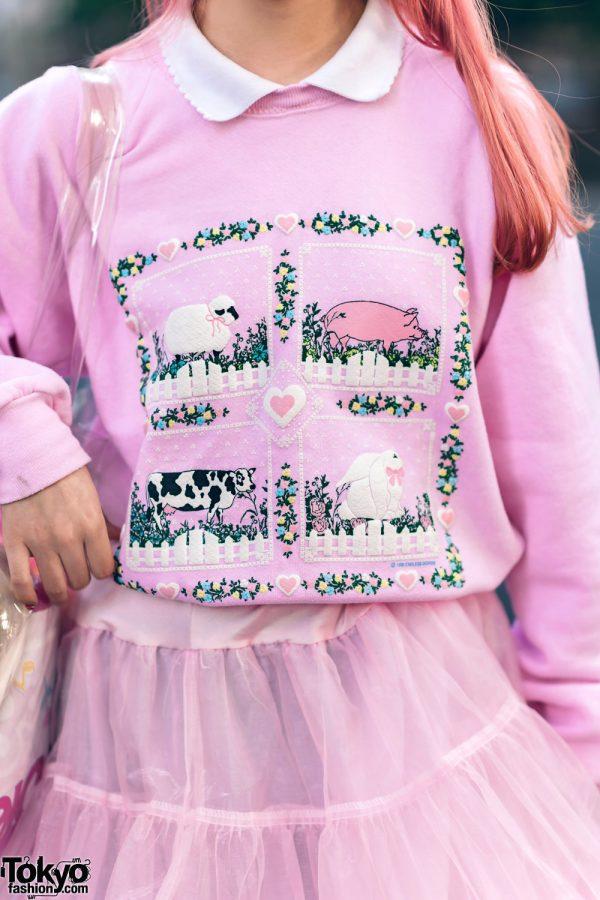 Kawaii Harajuku Girl Squad Street Styles w/ Pink Hair, Sheer Pastel Fashion, San To Nibun No Ichi, Kinji Resale & Cabbage Patch Doll 28