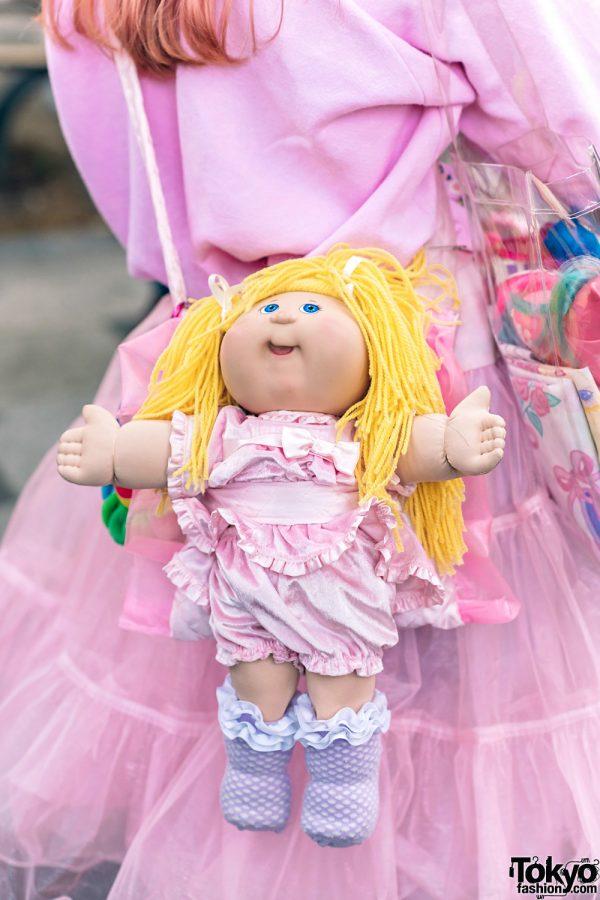 Kawaii Harajuku Girl Squad Street Styles w/ Pink Hair, Sheer Pastel Fashion, San To Nibun No Ichi, Kinji Resale & Cabbage Patch Doll 29
