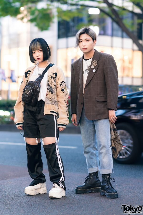 Harajuku Duo's Streetwear Styles w/ Sukajan, Nadia Strap Pants, Yosuke, Andersson Bell, Christopher Nemeth, MYOB, Levi's, Dr. Martens & Bill Wall Leather
