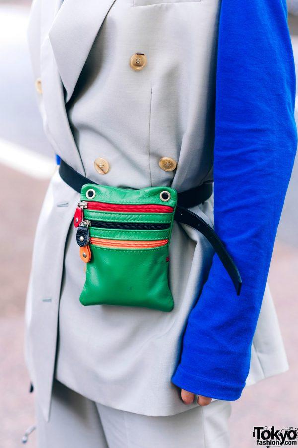 Harajuku Menswear Street Fashion w/ Grey Hair, Irene Japan Sleeveless Suit, Mihara Yasuhiro, Hermes & Margiela Tabi Boots 8