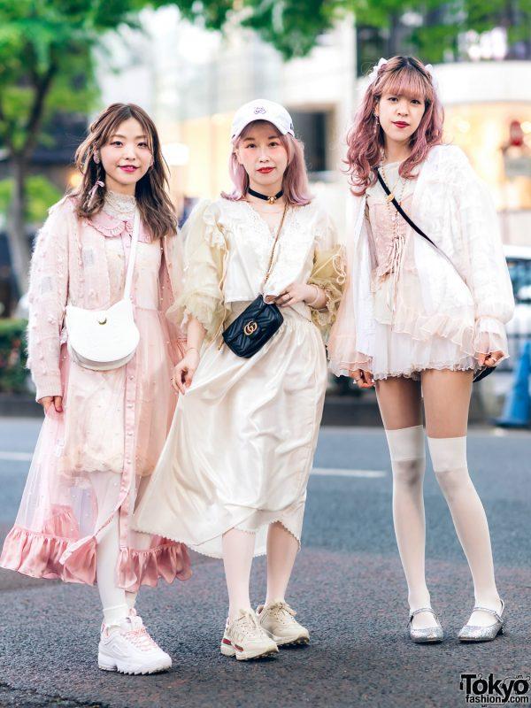 Vintage Inspired Sheer Pastel Harajuku Street Styles w/ Pink Hair, Etsuna Otsuka Fashion, Handmade Items, DonDonDown, RoseMarie Seoir & Theatre Products 4