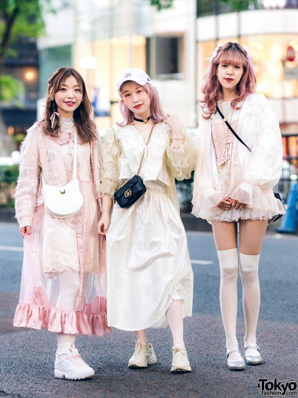 Vintage Inspired Sheer Pastel Harajuku Street Styles w/ Pink Hair, Etsuna Otsuka Fashion, Handmade Items, DonDonDown, RoseMarie Seoir & Theatre Products 3