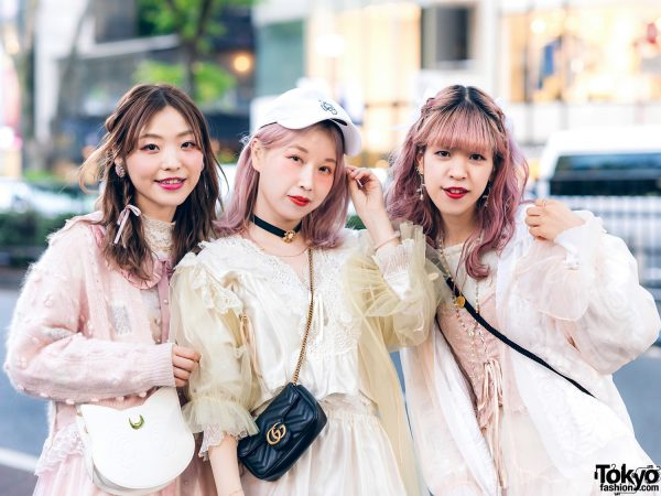 Vintage Inspired Sheer Pastel Harajuku Street Styles w/ Pink Hair, Etsuna Otsuka Fashion, Handmade Items, DonDonDown, RoseMarie Seoir & Theatre Products 5