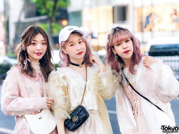 Vintage Inspired Sheer Pastel Harajuku Street Styles w/ Pink Hair, Etsuna Otsuka Fashion, Handmade Items, DonDonDown, RoseMarie Seoir & Theatre Products 6