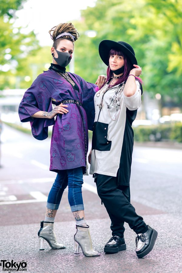 Contemporary Harajuku Streetwear Styles w/ Split Tongue, Boohoo, Sixth June, Clear Boots, Sexpot, Listen Flavor Drop-Crotch Pants, Killstar & Monochrome Creepers