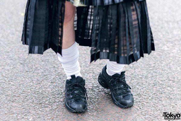 RinRin Doll in Harajuku Street Style w/ Satin Jacket, Michiko London Shirt, Rurumu Skirt, Pom Pom Earrings & Puma Sneakers 10