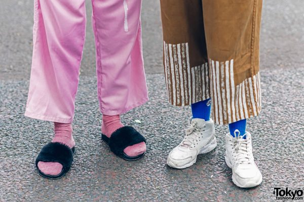 Cris Miranda Street Fashion in Harajuku w/ Pink & Blue Hair, Tattoos & Stripes 6