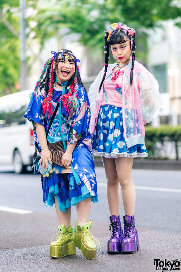 Kawaii Tokyo Streetwear Styles w/ Twin Braids, Colorful Hair, Decora Hair Clips, 6%DOKIDOKI, Claire's, ACDC Rag, Demonia, YRU, Yoshida Beads & Thank You Mart 3