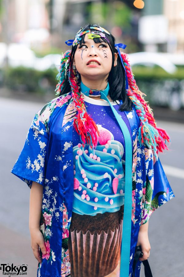 Kawaii Tokyo Streetwear Styles w/ Twin Braids, Colorful Hair, Decora Hair Clips, 6%DOKIDOKI, Claire's, ACDC Rag, Demonia, YRU, Yoshida Beads & Thank You Mart 8