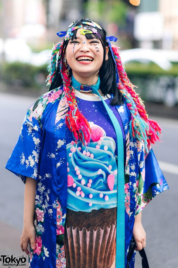 Kawaii Tokyo Streetwear Styles w/ Twin Braids, Colorful Hair, Decora Hair Clips, 6%DOKIDOKI, Claire's, ACDC Rag, Demonia, YRU, Yoshida Beads & Thank You Mart 9