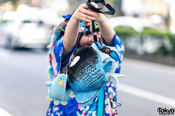 Kawaii Tokyo Streetwear Styles w/ Twin Braids, Colorful Hair, Decora Hair Clips, 6%DOKIDOKI, Claire's, ACDC Rag, Demonia, YRU, Yoshida Beads & Thank You Mart 12