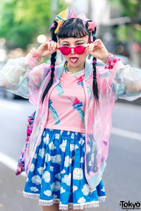 Kawaii Tokyo Streetwear Styles w/ Twin Braids, Colorful Hair, Decora Hair Clips, 6%DOKIDOKI, Claire's, ACDC Rag, Demonia, YRU, Yoshida Beads & Thank You Mart 15
