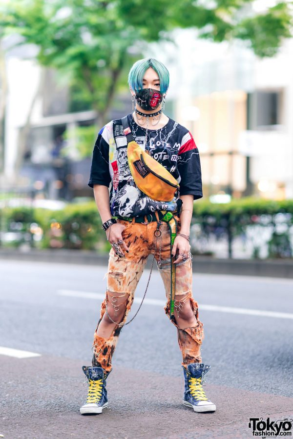 Harajuku Guys Street Styles w/ Aqua Hair, Marithe + Francois Girbaud, Cote Mer, Flagstaff, Hygge Watches & New Order x Dr. Martens 11
