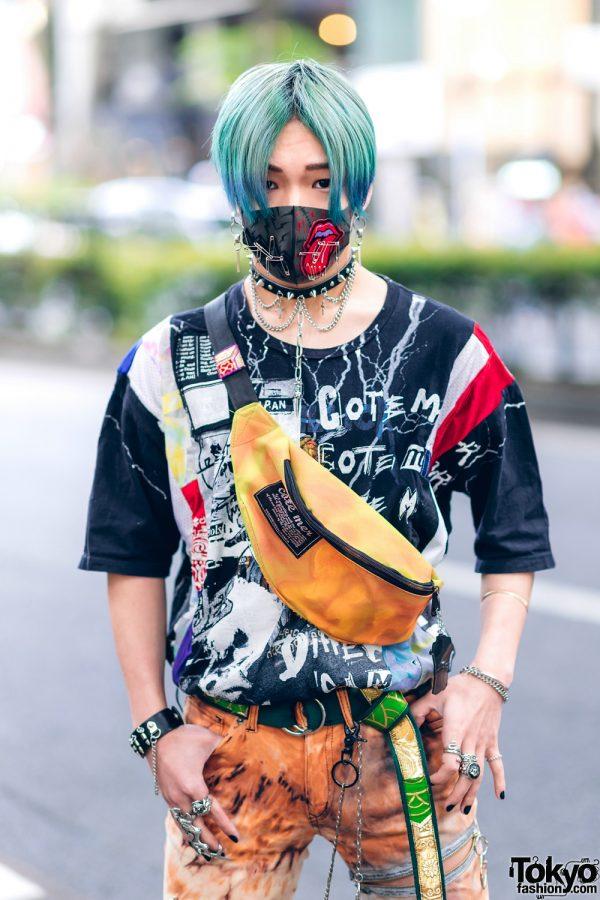 Harajuku Guys Street Styles w/ Aqua Hair, Marithe + Francois Girbaud, Cote Mer, Flagstaff, Hygge Watches & New Order x Dr. Martens 12