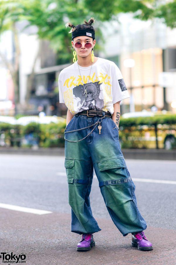 Harajuku Guys Street Styles w/ Aqua Hair, Marithe + Francois Girbaud, Cote Mer, Flagstaff, Hygge Watches & New Order x Dr. Martens 4