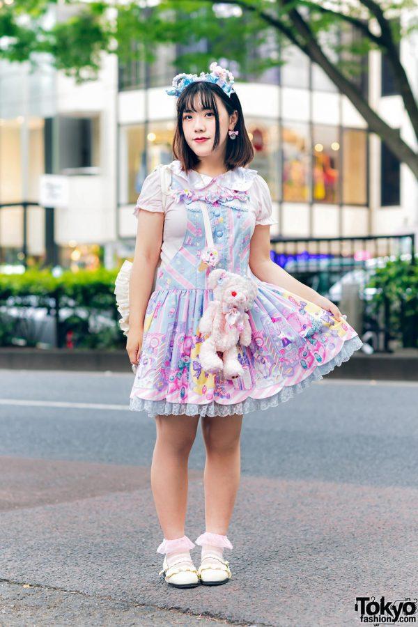 Lolita Street Fashion in Harajuku w/ Bunny Ears, Bows, Angelic Pretty, Nile Perch, Miu Miu, Nannan Special & RoseMarie Seoir 3