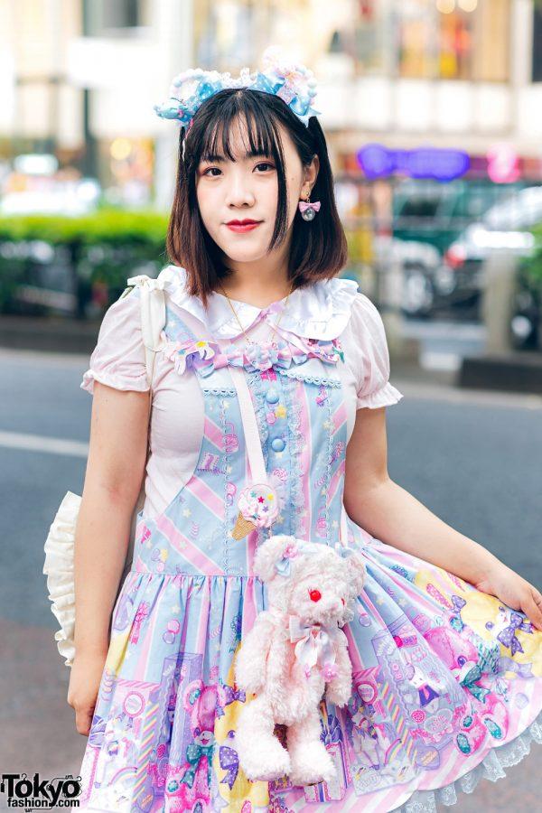 Lolita Street Fashion in Harajuku w/ Bunny Ears, Bows, Angelic Pretty, Nile Perch, Miu Miu, Nannan Special & RoseMarie Seoir 4