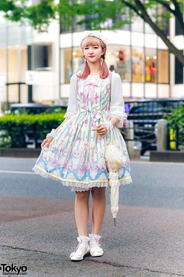 Lolita Street Fashion in Harajuku w/ Bunny Ears, Bows, Angelic Pretty, Nile Perch, Miu Miu, Nannan Special & RoseMarie Seoir 12