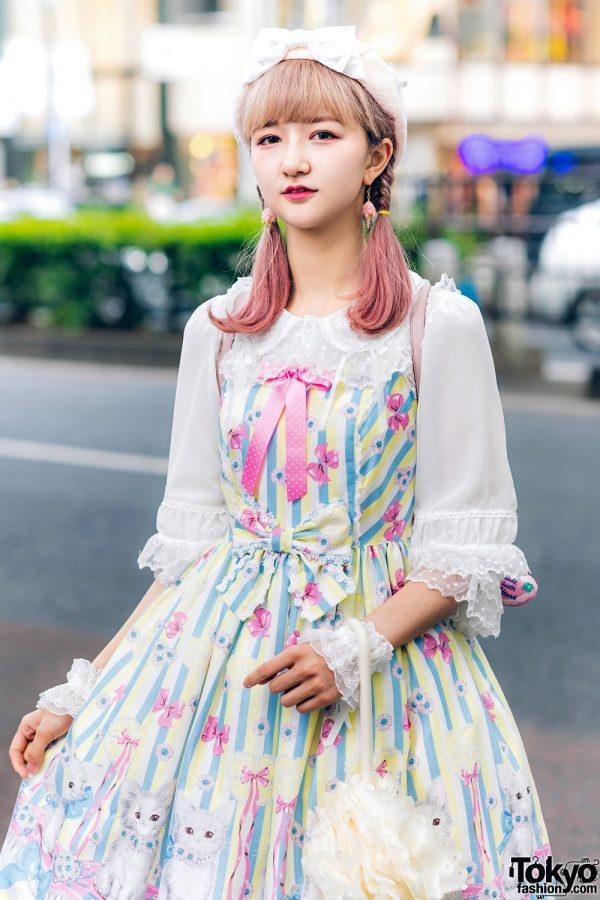 Lolita Street Fashion in Harajuku w/ Bunny Ears, Bows, Angelic Pretty, Nile Perch, Miu Miu, Nannan Special & RoseMarie Seoir 13