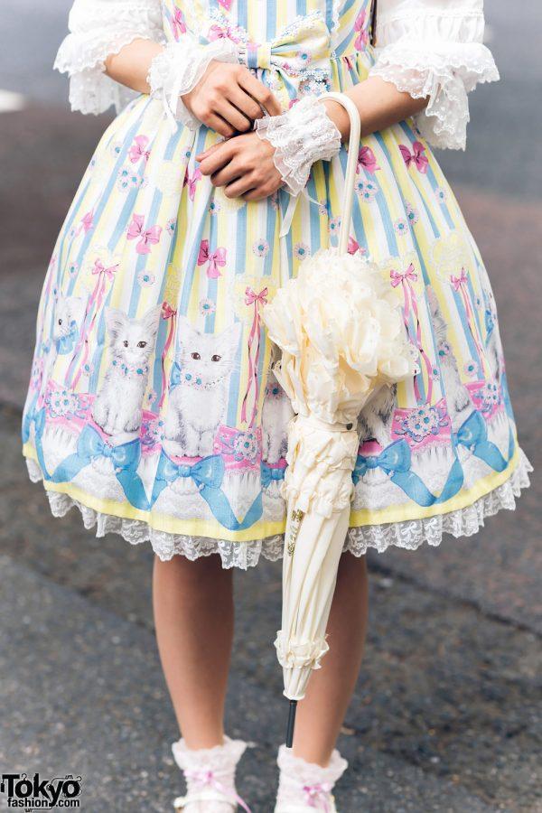 Lolita Street Fashion in Harajuku w/ Bunny Ears, Bows, Angelic Pretty, Nile Perch, Miu Miu, Nannan Special & RoseMarie Seoir 14
