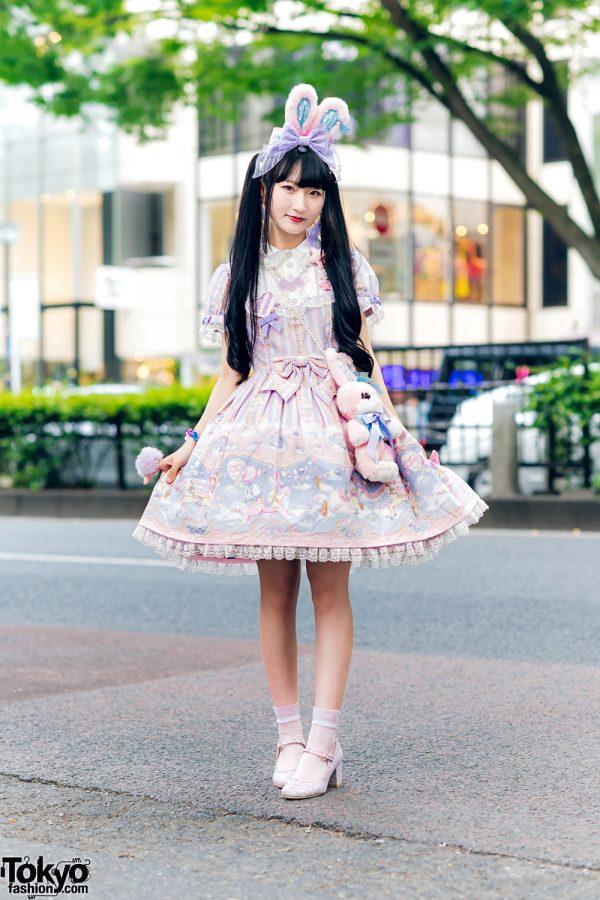 Lolita Street Fashion in Harajuku w/ Bunny Ears, Bows, Angelic Pretty, Nile Perch, Miu Miu, Nannan Special & RoseMarie Seoir 8