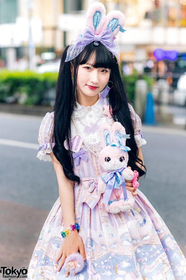 Lolita Street Fashion in Harajuku w/ Bunny Ears, Bows, Angelic Pretty, Nile Perch, Miu Miu, Nannan Special & RoseMarie Seoir 9