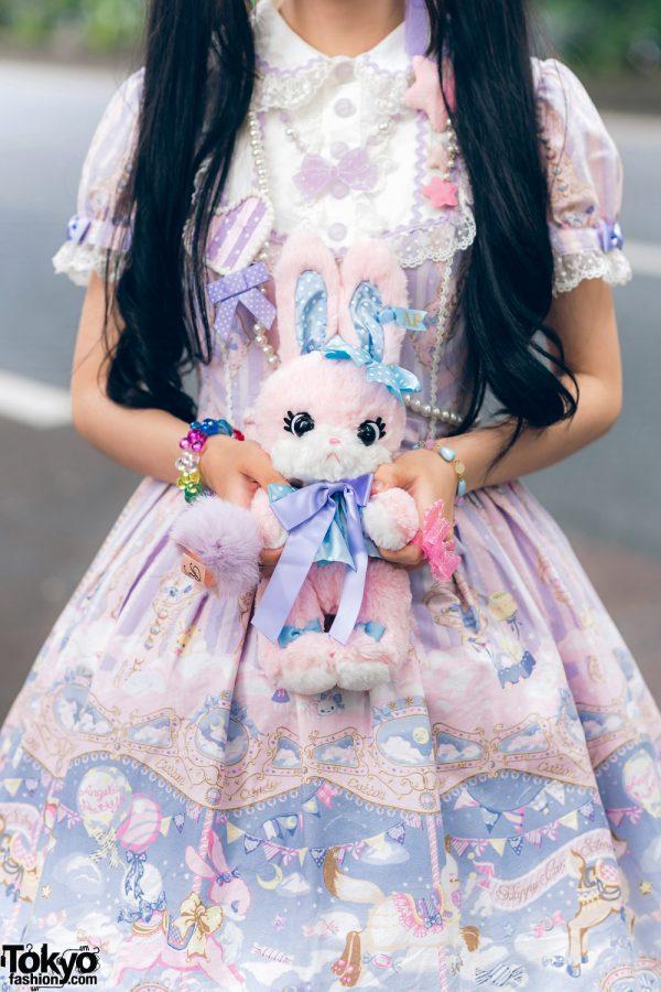 Lolita Street Fashion in Harajuku w/ Bunny Ears, Bows, Angelic Pretty, Nile Perch, Miu Miu, Nannan Special & RoseMarie Seoir 10