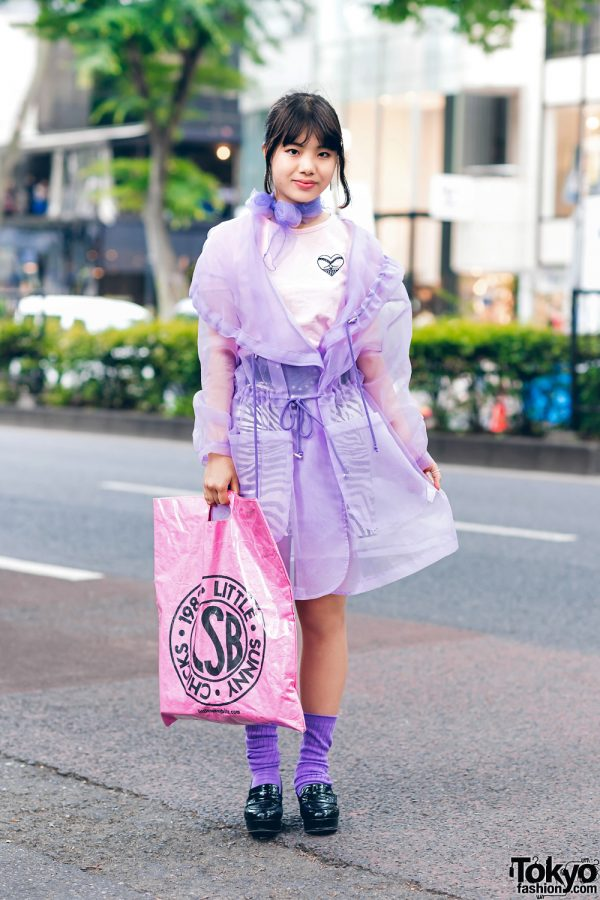 Harajuku Fashion w/ RRR Tokyo Coat, 7% More Pink Zebra Skirt, Bubbles, Little Sunny Bite & Heeled Loafers