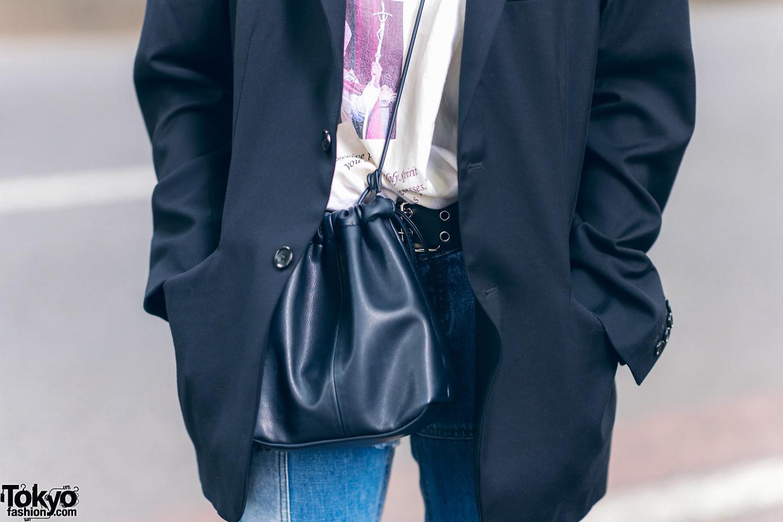 Harajuku Girls Street Styles W Purple Hair Gucci Bucket