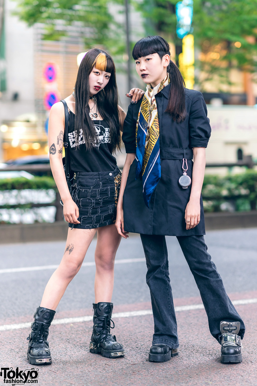 Dark Harajuku Street Styles w/ Cat Eye Sunglasses, Sex Pot Revenge, Hellcat Punks, Paul Smith, Vivienne Westwood & New Rock Boots