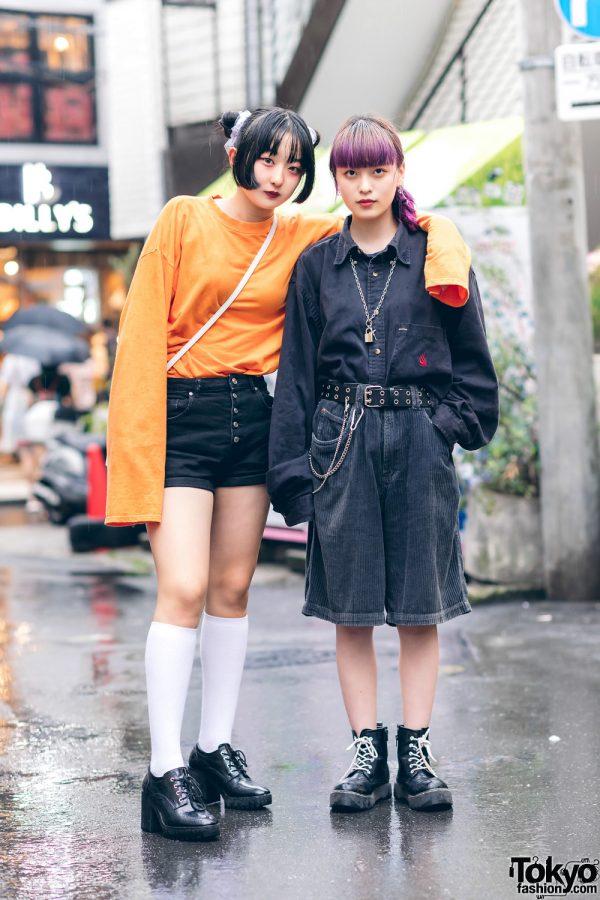 Harajuku Girls Rainy Season Street Styles w/ Oversized Corduroy Shorts, Casper John Aiver, (ME)Harajuku & Used Focus