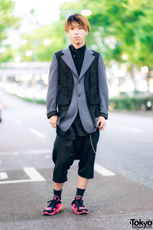 Harajuku Guy in Comme des Garcons Streetwear Style w/ Gucci, Nike & Chanel