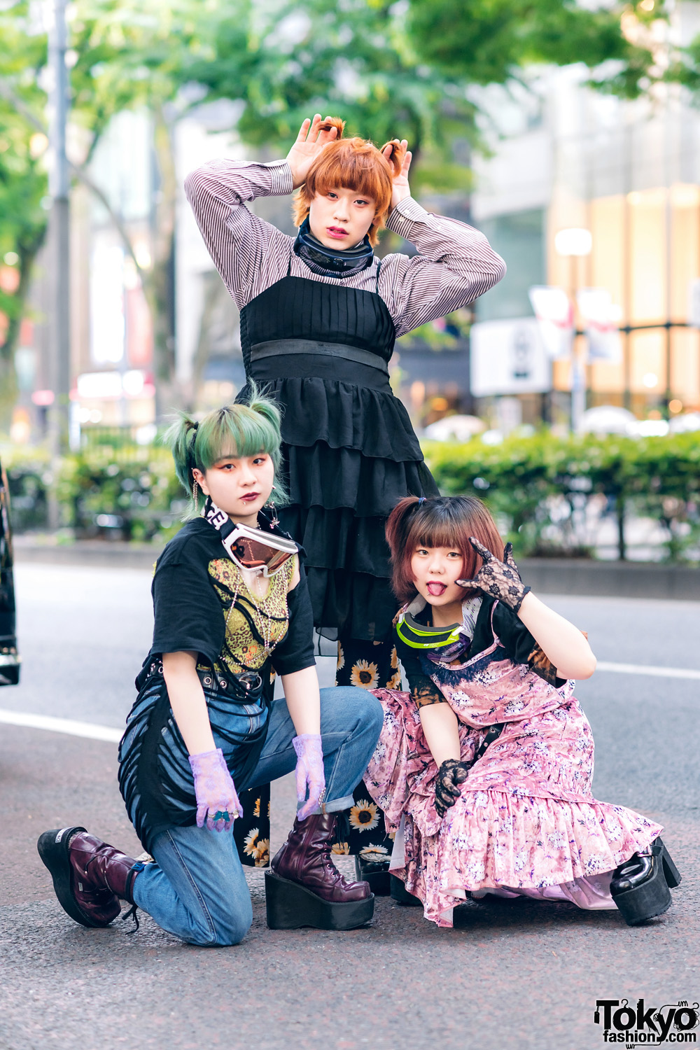 Harajuku Street Styles w/ Goggles, Lace Gloves, Remake & Vintage Fashion, Yosuke, Nondisclothes & Bubbles