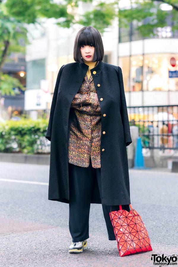 Tokyo Vintage Street Style w/ Bao Bao Issey Miyake & Pierre Hardy