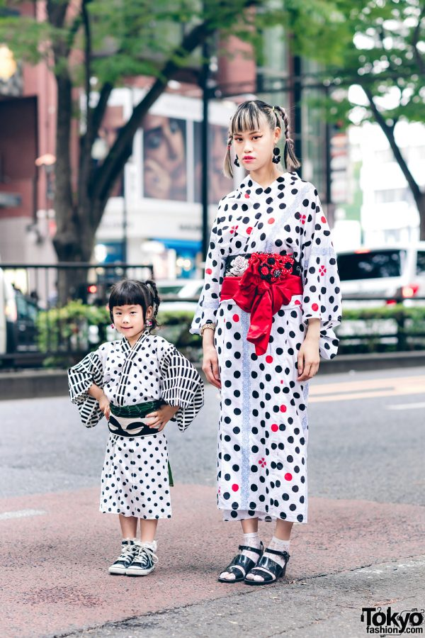 The Ivy Tokyo Jewelry Designer & Daughter in Harajuku Summer Yukata Street Styles