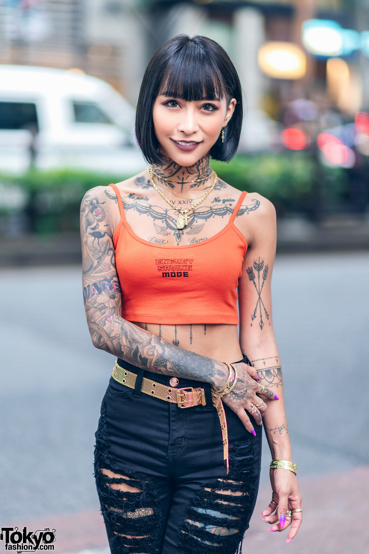 Japanese Hair Makeup Artist Amp Model In Harajuku W Tattoos