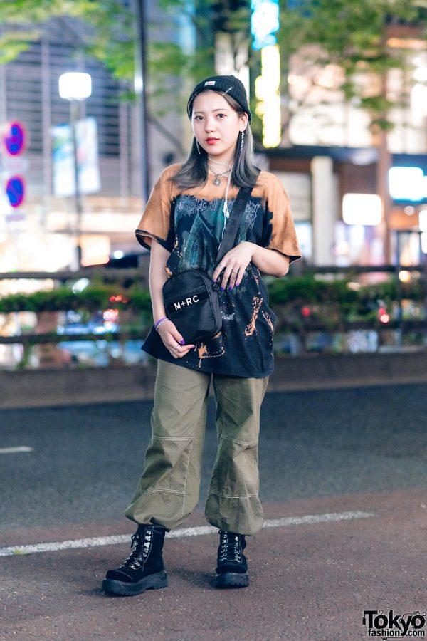 Tokyo Casual Streetwear Style w/ Faith Tokyo, Bershka, M+RC Noir, Bubbles & Healthknit
