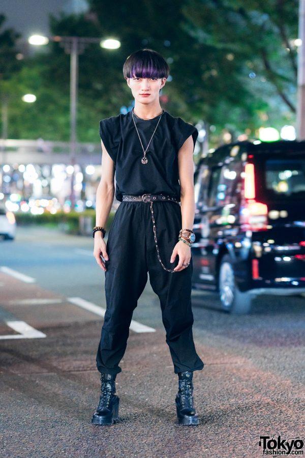 Tokyo Minimalist All Black Streetwear Style w/ Hare, Nike, Dr. Martens & SAAD