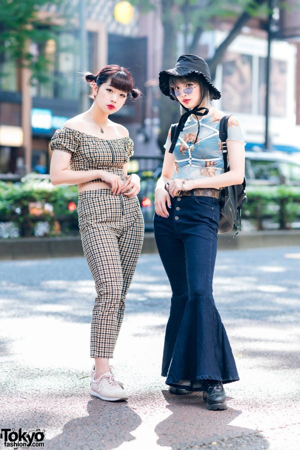 Tokyo Girls Summer Street Styles w/ Cotton On Gingham Set, Romantic Standard, Bubbles Harajuku & New Balance