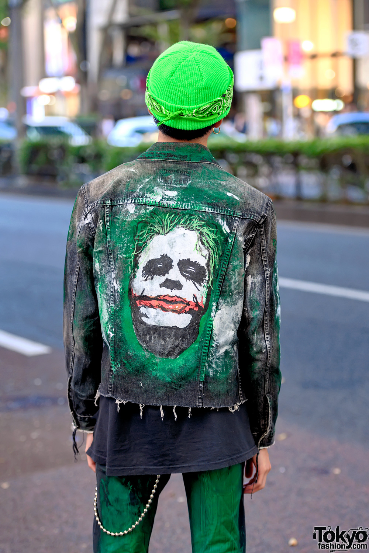 The Joker Inspired Harajuku Street Style Featuring Hand