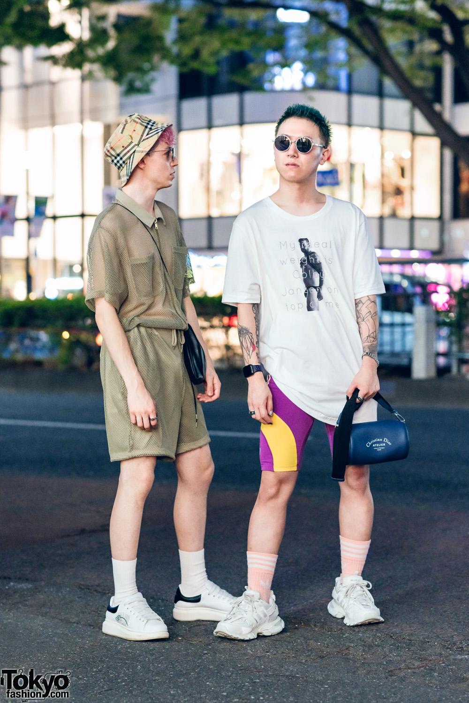 Harajuku Guys Street Styles W Bucket Hat Vintage Fashion Adidas Cycling Shorts Alexander Wang Balenciaga Esc Studio Lv Valentino Ambush Dior Tokyo Fashion
