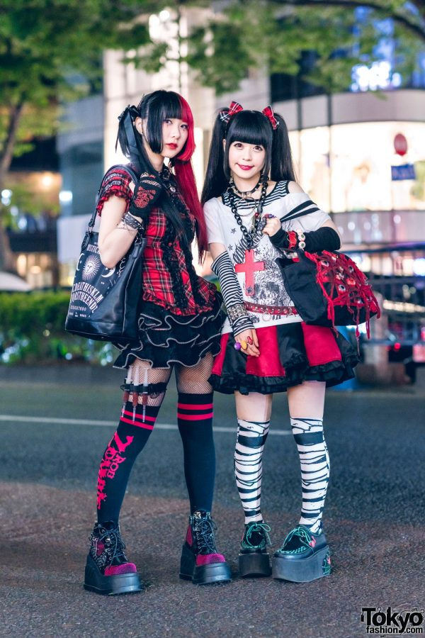 Gothic Japanese Street Styles w/ Mad Punks, Glavil, Killstar, Demonia, Brindle, Hellcat Punks, Algonquins, Deorart, Teddy Monster, Fernopaa & Yosuke